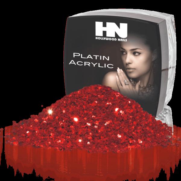 Platin Acrylic Diamond Powder Red