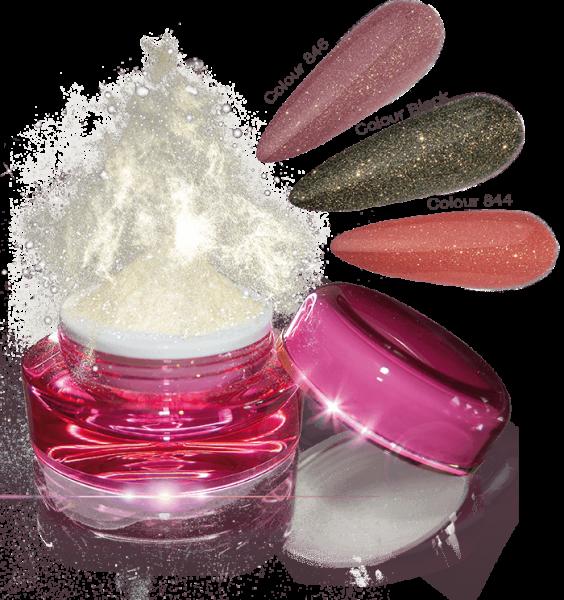 Glamour Dip Powder Gold Sparkle
