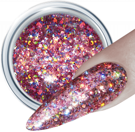 3D Glitter UV Gel Mauve Rocket 317