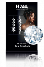 Diamond Hair Crystals 10 Stück rot