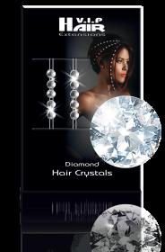 Diamond Hair Crystals 10 Stück rot