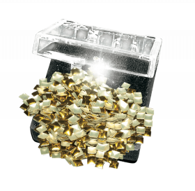 Studs eckig gold 100 Stück