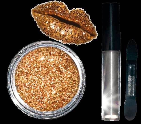 Glitter Lips Kit Rose Gold