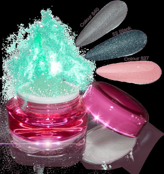 Glamour Dip Powder Green Sparkle