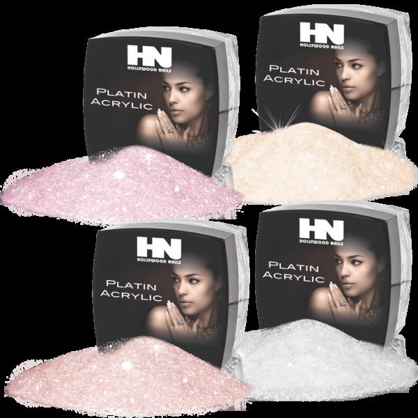 Platin Acrylic French Powder Glamour Set 4 x 6 g