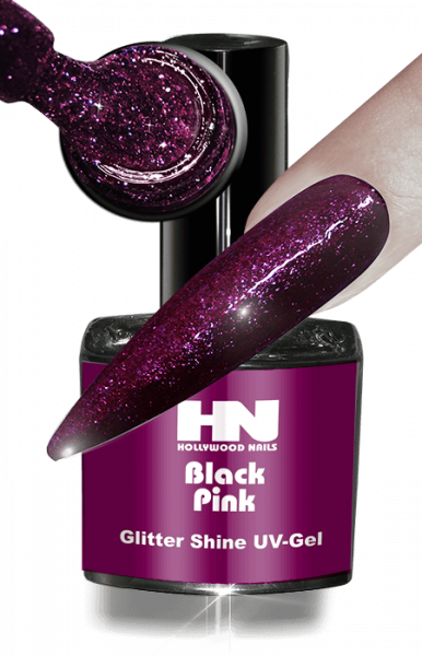 Glitter Shine UV Gel Black Pink