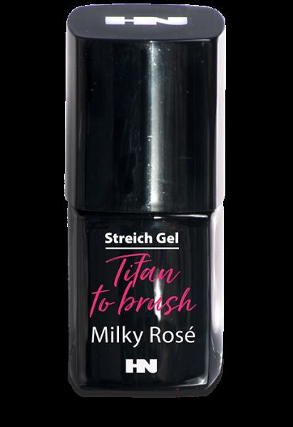 Titan to Brush Streich UV Gel Milky Rosé