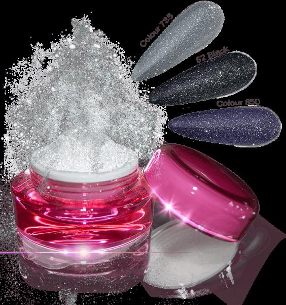 Glamour Dip Powder Silver Sparkle