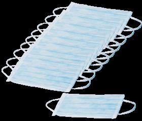 Staub-/ Mundschutz blau Vlies 3-lagig 10 Stück/Packung