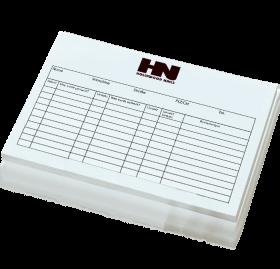 Kunden Karteikarten HN Logo 50 Stück