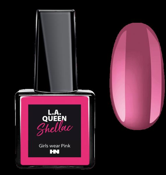 L.A. Queen UV Gel Shellac - Girls wear Pink #16 15 ml