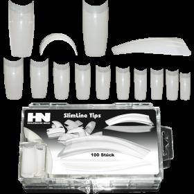SlimLine Tip Classic Natur long Tip Box 100 Stück