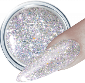 Glitter UV Gel Silver Sparkle 263