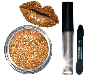 Glitter Lips Kit Rose Gold