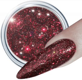 Glitter UV Gel Daring Red 365