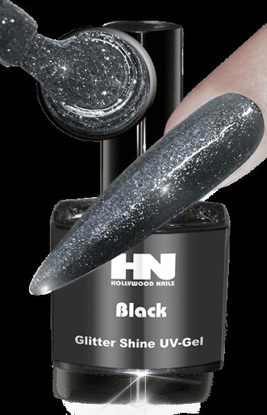 Glitter Shine UV Gel Black
