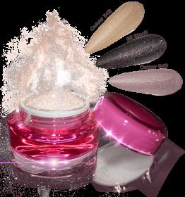 Glamour Dip Powder Apricot Sparkle