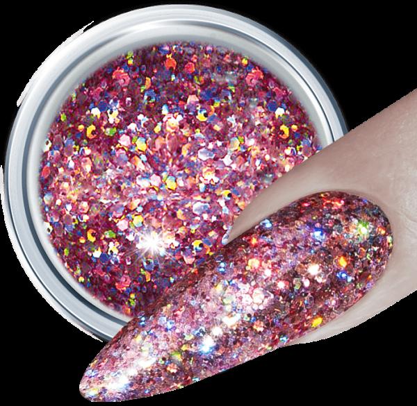 3D Glitter UV Gel Mauve Rocket 317