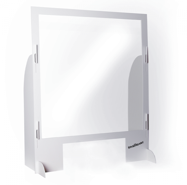 Spuckschutz Aufstellwand - extra große Öffnung