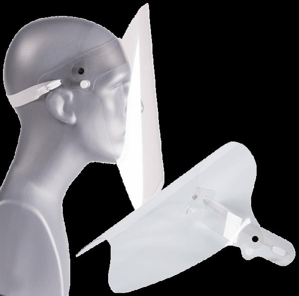 Gesichtsschutz Visier Spuckschutz klappbar transparent