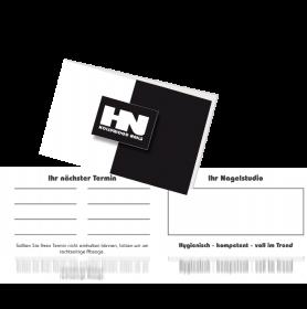Visiten- u. Kundenterminkarte Hollywood Nails Logo 50 Stück