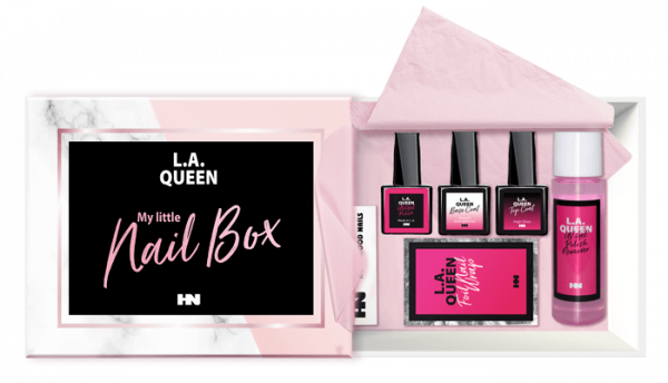 L.A. Queen Shellac Set My little Nail Box UV Lamp