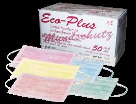 Staub-/ Mundschutz farblich sortiert 3-lagig 50 Stück/Packung