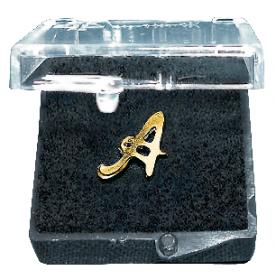 Einlegemotive Buchstaben gold A