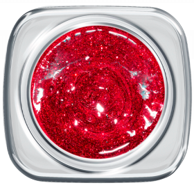 Glitter UV Gel 384 Crush Red 5 g
